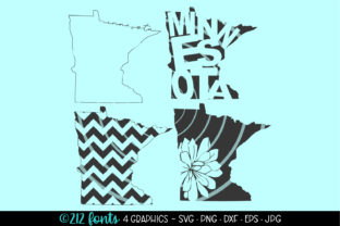 4 - Minnesota State Map Graphics DXF SVG Graphic By 212 Fonts