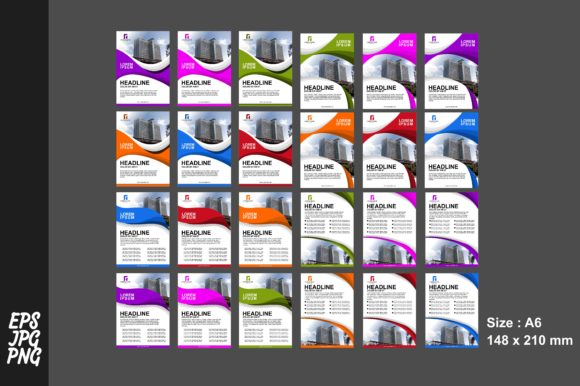 Print on Demand: 4 Style Simple Flyer Template Bundle Graphic Graphic Templates By Arief Sapta Adjie
