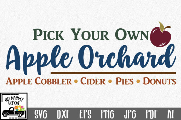 Apple Orchard Graphic Crafts By oldmarketdesigns