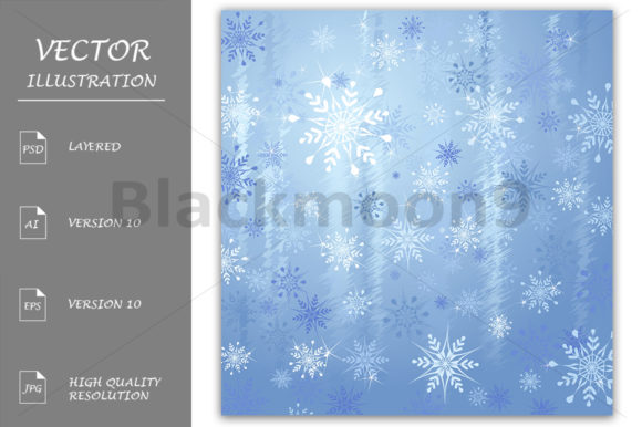 Background with Snowflakes Graphic By Blackmoon9