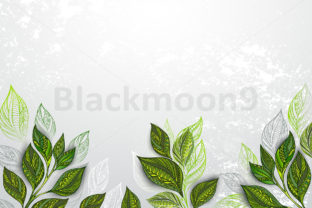 Background with Tea Plants Graphic By Blackmoon9