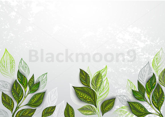 Background with Tea Plants Graphic Backgrounds By Blackmoon9