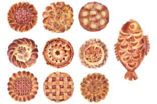 Bakery Products Watercolor Png Graphic By MyStocks