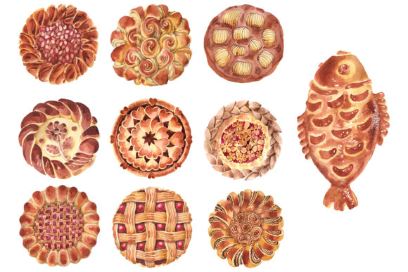 Print on Demand: Bakery Products Watercolor Png Graphic Illustrations By MyStocks