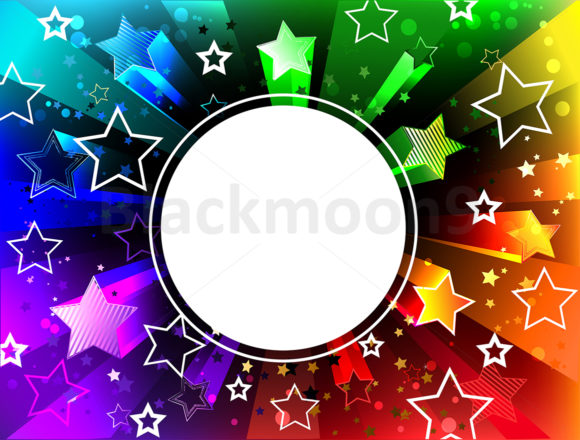Download Free Banner On Rainbow Background Graphic By Blackmoon9 Creative for Cricut Explore, Silhouette and other cutting machines.