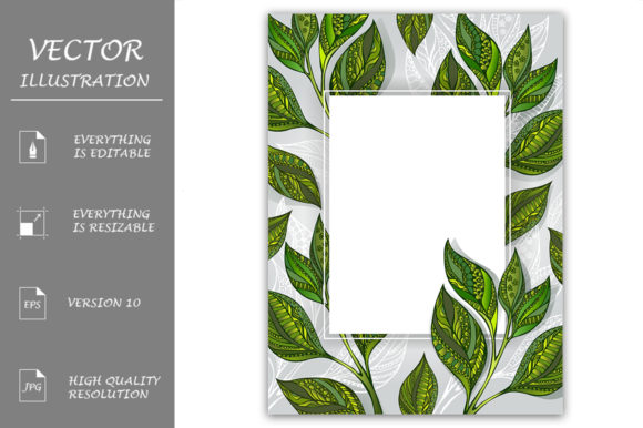 Banner with Tea Leaves Graphic Graphic Templates By Blackmoon9