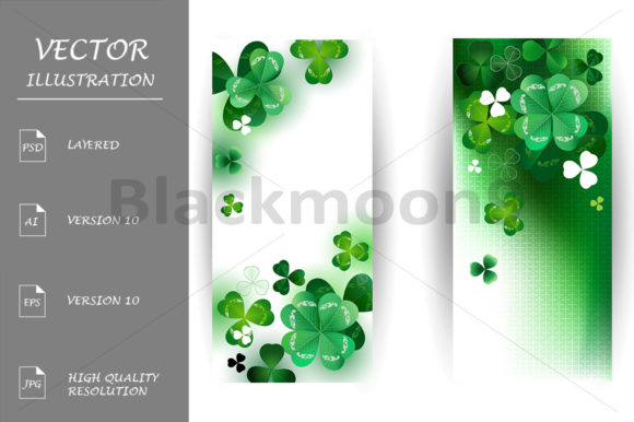Banners with Shamrock Graphic Graphic Templates By Blackmoon9