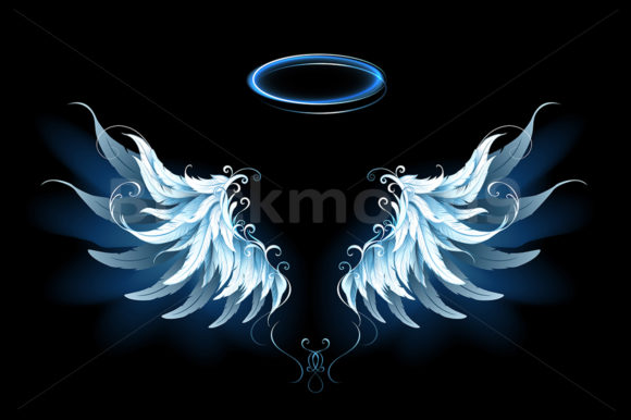 Blue Angel Wings Graphic Illustrations By Blackmoon9