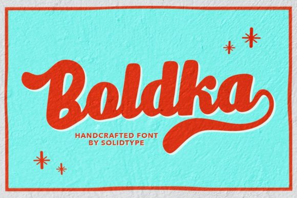 Print on Demand: Boldka Script Script & Handwritten Font By Solidtype
