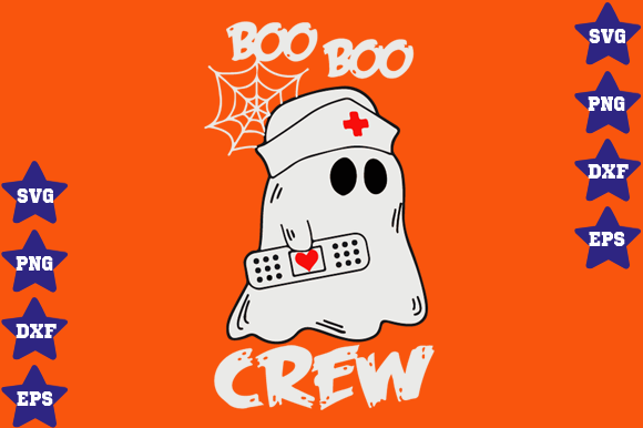 Download Free Boo Boo Crew Nurse Graphic By Awesomedesign Creative Fabrica for Cricut Explore, Silhouette and other cutting machines.