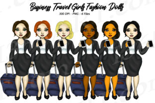 Download Free Business Trip Travel Girls Clipart Set Graphic By Deanna Mcrae for Cricut Explore, Silhouette and other cutting machines.