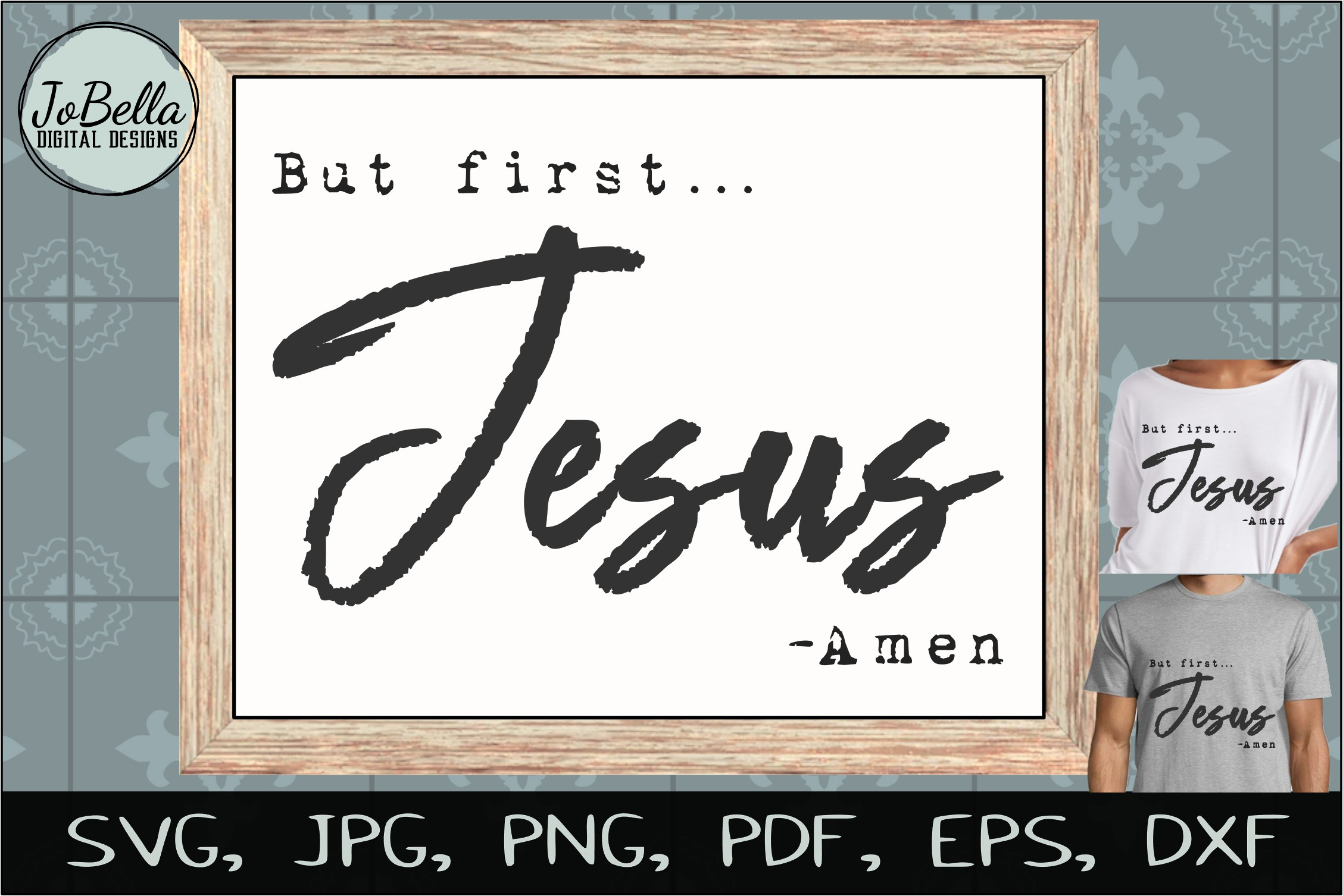 Download Free But First Jesus And Sublimation Graphic By Jobella Digital for Cricut Explore, Silhouette and other cutting machines.
