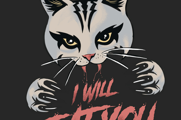 Download Free Cat Will Eat You Graphic By Fcvkreativ Std Creative Fabrica for Cricut Explore, Silhouette and other cutting machines.