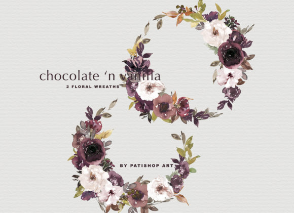 Chocolate & Vanilla Watercolor Floral Graphic By Patishop Art Image 12