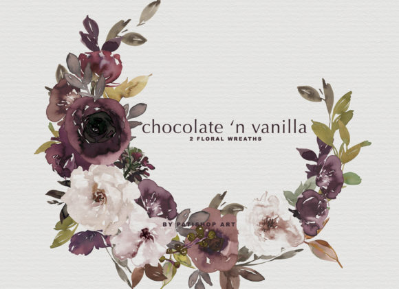 Chocolate & Vanilla Watercolor Floral Graphic By Patishop Art Image 13