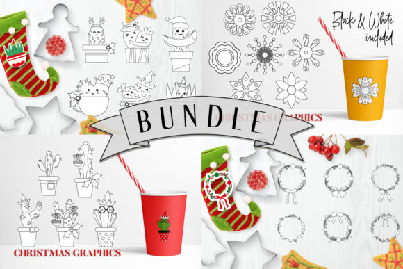 Print on Demand: Christmas Bundle Graphic Illustrations By DarraKadisha - Image 2