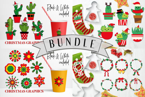 Print on Demand: Christmas Bundle Graphic Illustrations By DarraKadisha - Image 1
