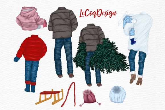Christmas Clipart Graphic Illustrations By LeCoqDesign - Image 2