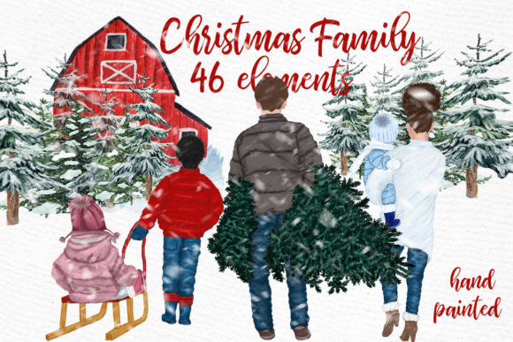 Christmas Clipart Grafik Illustrationen von LeCoqDesign