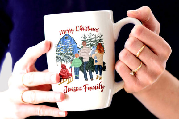 Christmas Family Clipart Graphic Illustrations By LeCoqDesign - Image 8