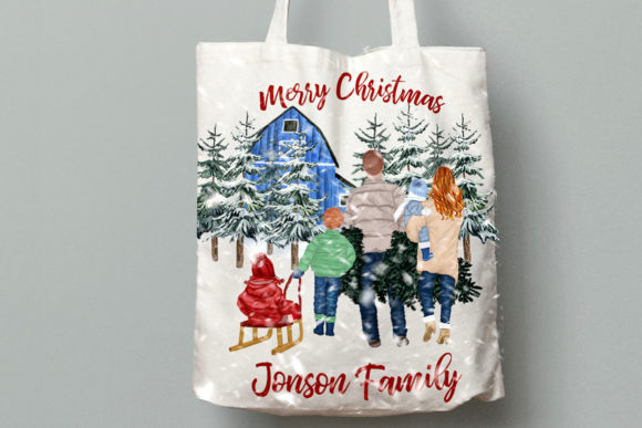 Christmas Family Clipart Graphic Illustrations By LeCoqDesign - Image 9
