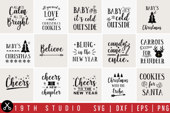 Download Free Christmas Bundle Graphic By 19th Studio Svg Creative Fabrica SVG Cut Files