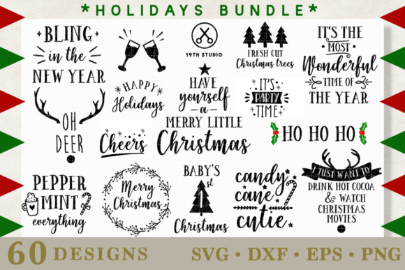 Christmas Bundle Graphic Crafts By 19th Studio SVG