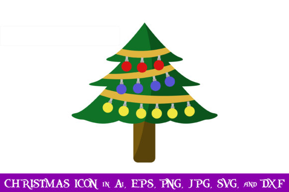 Download Free Christmas Tree Christmas Icon Graphic By Purplespoonpirates for Cricut Explore, Silhouette and other cutting machines.