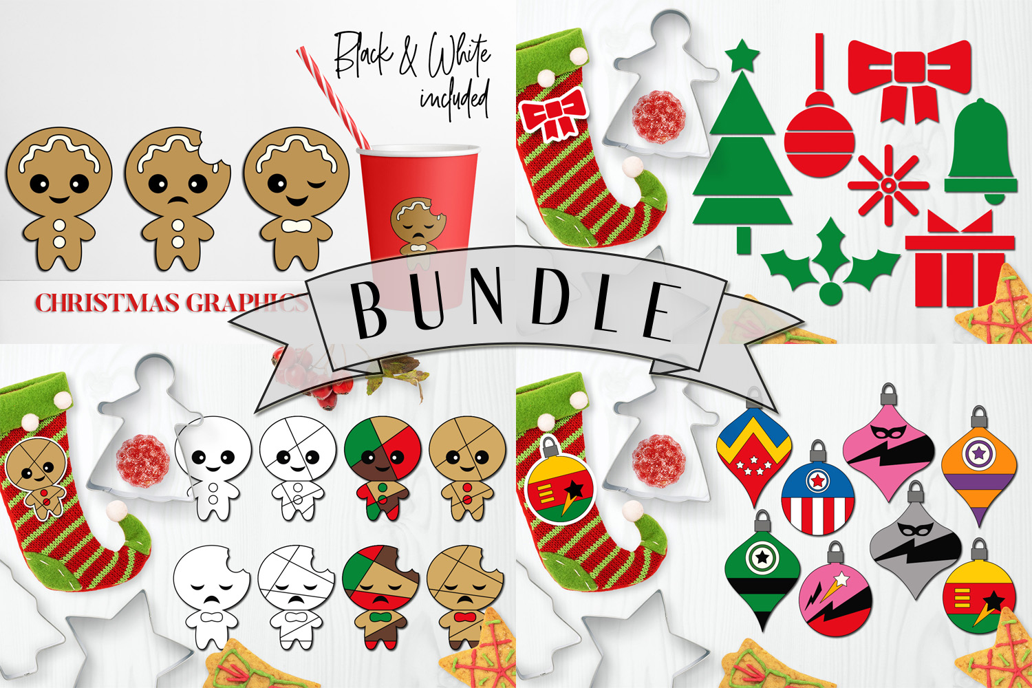 Download Free Christmas Bundle Graphic By Darrakadisha Creative Fabrica for Cricut Explore, Silhouette and other cutting machines.