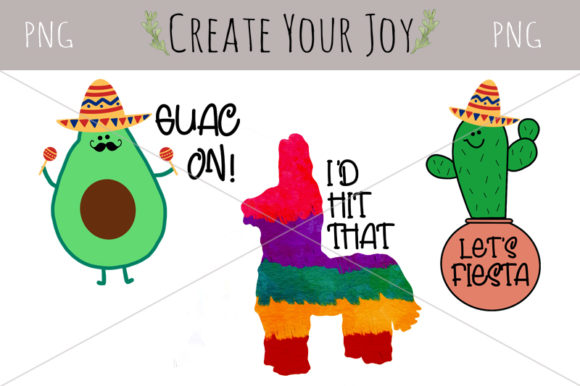 Download Free Cinco De Mayo Avocado Cactus Pinata Graphic By Create Your Joy for Cricut Explore, Silhouette and other cutting machines.