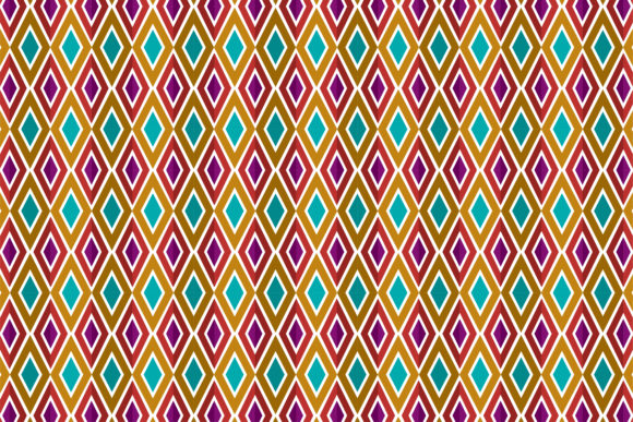Print on Demand: Colorful Pattern Square Graphic Patterns By noory.shopper