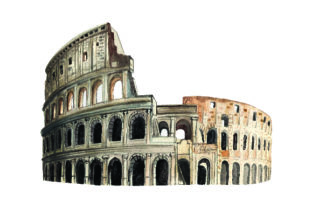 Colosseum - Watercolor Style Craft Design By Creative Fabrica Crafts