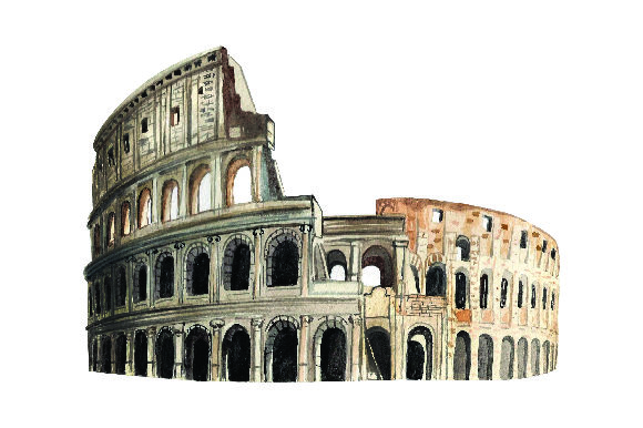 Colosseum - Watercolor Style Travel Craft Cut File By Creative Fabrica Crafts