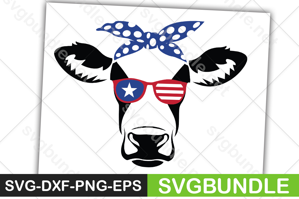 Download Free Cow Face With Sunglasses Graphic By Svgbundle Net Creative Fabrica for Cricut Explore, Silhouette and other cutting machines.