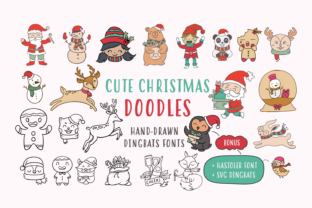 Cute Christmas Doodles Font By Situjuh