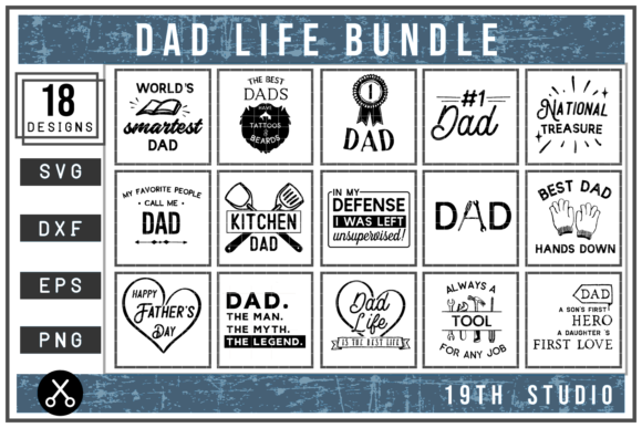 Download Free Dad Life Svg Bundle Graphic By 19th Studio Svg Creative Fabrica for Cricut Explore, Silhouette and other cutting machines.
