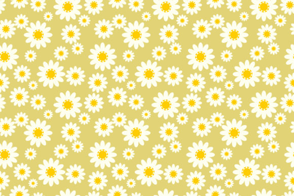 Download Free Daisy Seamless Pattern Graphic By Thanaporn Pinp Creative Fabrica for Cricut Explore, Silhouette and other cutting machines.