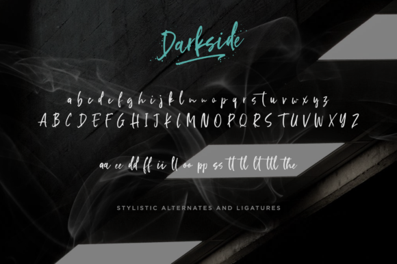 Print on Demand: Darkside Script & Handwritten Font By Letteratom - Image 11