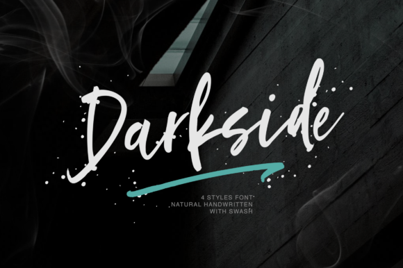 Print on Demand: Darkside Script & Handwritten Font By Letteratom