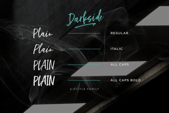 Print on Demand: Darkside Script & Handwritten Font By Letteratom - Image 9