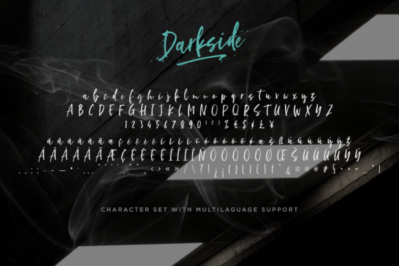 Print on Demand: Darkside Script & Handwritten Font By Letteratom - Image 10