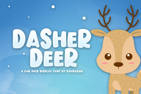 Dasher Deer Font By Khurasan Image 1
