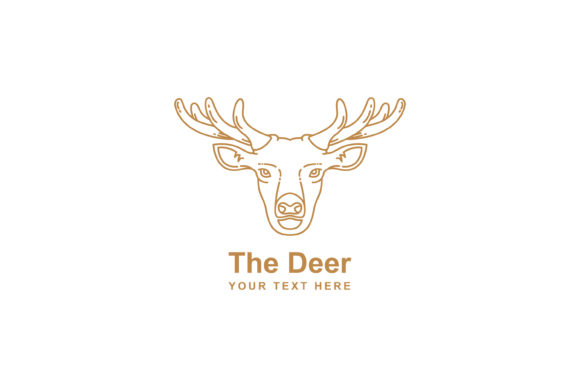 Print on Demand: Deer Mono Line Design Graphic Graphic Templates By sabavector