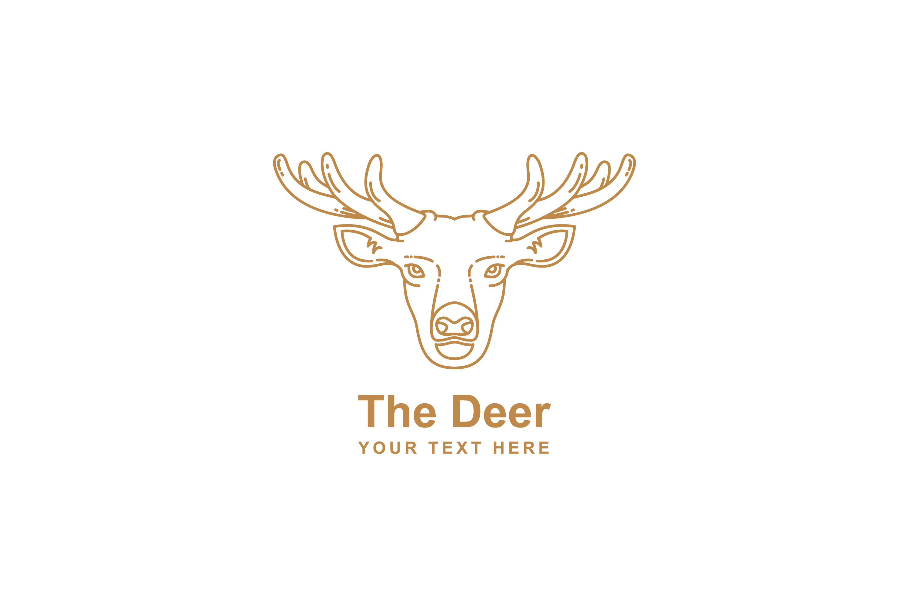 Download Free Deer Mono Line Design Graphic By Sabavector Creative Fabrica for Cricut Explore, Silhouette and other cutting machines.