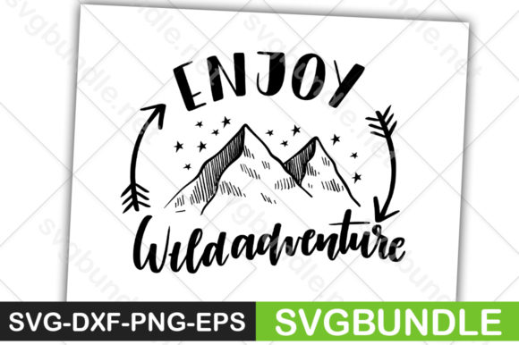 Print on Demand: Enjoy Wide Adventure Graphic Crafts By svgbundle.net