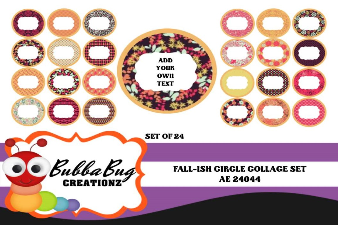 Download Free Fall Ish Circle Collage Set Graphic By Bubbabug Creative Fabrica for Cricut Explore, Silhouette and other cutting machines.