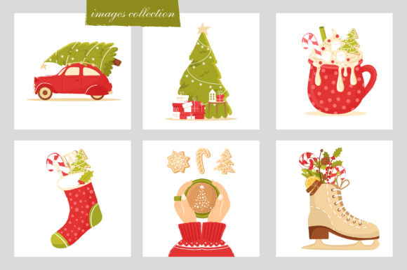 Download Free Feel The Christmas Holiday Clipart Graphic By Katiazhe for Cricut Explore, Silhouette and other cutting machines.