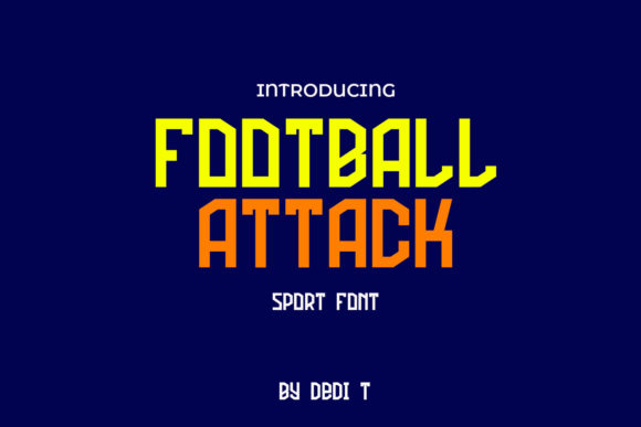 Print on Demand: Football Attack Display Font By miracleboykenzie