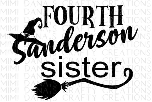 Print on Demand: Fourth Sanderson Sister Clipart Graphic Crafts By Dana Tucker