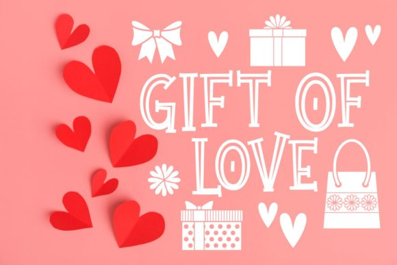 Print on Demand: Gift of Love Display Schriftarten von Rifki (7ntypes)